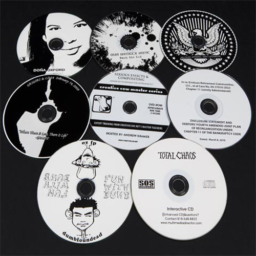 CD black and white printing